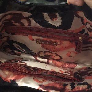 Kate Landry Bags - Kate Landry red snakeskin clutch handbag